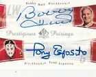 2005-06 BOBBY HULL TONY ESPOSITO UD SP AUTHENTIC DUAL AUTOGRAPH #26 50