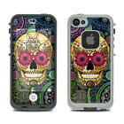 Skin Kit for LifeProof FRE iPhone 5S - Sugar Skull Paisley - Sticker Decal