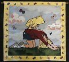 Classic Winnie the Pooh Tapestry Wall Hanging Leap Frog w/ Christopher Robin