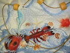 6 FT x  8 FT BLUE FISHING  NET CRAB LOBSTER SEAHORSE STARFISH SHELLS  DISPLAY