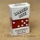 NEW Loaded Trick Transparent Red Dice Set Mis Spotted 2 5 6 Only Not Weighted