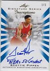 2012-13 LEAF INSCRIPTION AUTO: SCOTTIE PIPPEN #1 3 AUTOGRAPH