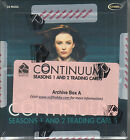 Continuum Seasons 1 and 2 - Archive Box - All Auto, Relic, and Gold Cards + MORE