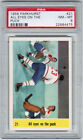 1958 59 PARKHURST #21 JACQUES PLANTE IA PSA 8 ALL EYES ON THE PUCK BV 200$