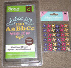 NEW Cricut Cartridge CHALKBOARD FONTS+36 Jolees Flowers 3 FONTS Ships ASAP