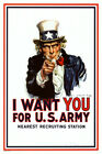 I Want You Uncle Sam Poster Print 24x36