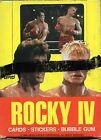 1985 Topps Rocky IV The Movie Trading Card Box Sylvester Stallone New