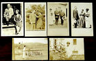 7 Photo Postcards FIRST LADY GRACE COOLIDGE & PRESIDENT CALVIN 1920's-40s