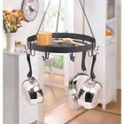 8 Hook Hanging Pot Holder Kitchen Organizer Pans Utensils Rack Hanger Storage