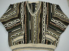 Cotton Traders Men's Textured Sweater Bill Cosby V Neck XL