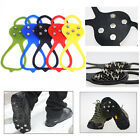 1 pair Overshoes Studded Non-slip Spikes Crampons Grip Ice Snow Cleats Footwear