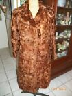 vintage red brown curly lamb fur long coat one hole in fur s/m