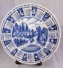 Calendar Plate 1978 Alfred Meakin Staffordshire England God Bless Our House ~Blu