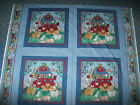 FABRIC PILLOW PANEL 4 SQUARES NOAHS ARK ANIMALS RAINBOW ELEPHANTS GIRAFFES ZEBRA