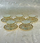Coalport Kings Plate Gold Lot of 5 Demitasse Cups and Saucers
