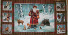 A WOODLAND SANTA WITH FORREST ANIMALS BY GIORDANO STUDIOS COTTON FABRIC PANEL
