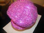 GLITTERING HOT PINK FUCHSIA SEQUIN BRANDO HAT NEWSBOY CAP WEAR ALL YEAR NEW !