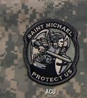 MilSpec ST. SAINT MICHAEL PROTECT US Tactical MORALE Velcro Patch / ACU Color