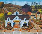 BITS AND PIECES JIGSAW PUZZLE PUMPKIN HOUSE ART POULIN 1000 PCS AMERICANA