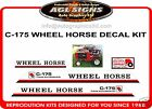 C-175 TWIN AUTOMATIC WHEEL HORSE TRACTOR MOWER  DECAL SET, reproduction