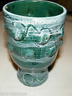 Beautiful Vintage Hand Thrown Pottery Goblet Vase Blue Tones Made in Italy Look