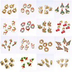 5PCS Wholesale Mixed Gold Christmas Gifts Charms For DIY Pendant Bracelet Xmas
