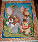 A PATTY REED JUNGLE BABIES PRE-QUILTED FABRIC PANEL