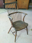GORGEOUS  ANTIQUE ENGLISH COMB BACK WINDSOR CHAIR (ELM) circa Early 19th C