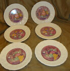 Set of 6 Beautiful VINTAGE Gien LES DELICES Cake Ice Cream Fruit PLATES W/ Box