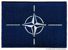 NATO FLAG embroidered iron on PATCH MILITARY EMBLEM NORTH ATLANTIC TREATY logo