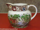 Antique 32 oz Pitcher  W R Midwinter Ltd. Rural England multi-color with brown