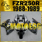 Motoegg ABS Fairings Fit YAMAHA FZR250R 1989 FZR 250 R 89 Bodywork Black Y29M20