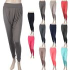 WOMEN'S RELAXED Solid Harem Pants Baggy Easy Wear Rayon Stretchy S M L