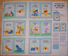 A DISNEY WINNIE THE POOH IN THE SKY COTTON SOFT BOOK FABRIC PANEL