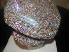 GLITTERING MULTI COLOR SEQUIN BRANDO HAT NEWSBOY CAP WEAR ALL YEAR MATCHES ALL !