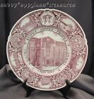 Wonderful Red Transferware Wedgwood College Plate New York City Technology Bldg.