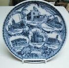 Vintage English Souvenir FLOW BLUE PLATE - PORTSMOUTH NH, Made for Geo B French