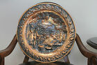 Vintage Coppercraft Guild Taunton Mass Copper Round Wall Plate Plaque