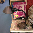 Antique Art Deco Goose Neck Table Lamp - Cast iron with Brass Shade by Faries Co