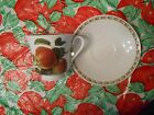 Queen's Hooker's Fruit Apple Tea Cup And Saucer Free Shipping!
