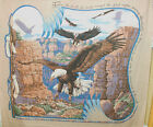 1 Yd Quilt Fabric Wall Hanging Panel Southwestern Eagles Mountain Country