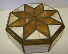 Antique Arts & Crafts Octagon Art Deco Stained Glass Lamp Light Shade Star Burst