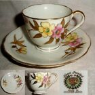 60yr Shofu China OCCUPIED JAPAN Hp PINK & GOLD gilt FLORAL cup & saucer no damag