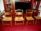 ANTIQUE SET OF SIX MAPLE COUNTRY HITCHCOCK CHAIRS BEAUTIFUL MADE IN AMERICA