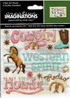 FC Creative Imaginations Cowgirl Scrapbooking Rub Ons 4 sheets