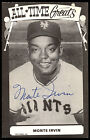 MONTE IRVIN HAND SIGNED auto AUTOGRAPH N Y GIANTS TEAM OLDER PHOTO POST CARD