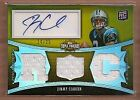 2010 Topps Triple Threads Gold #114a Jimmy Clausen Jersey Auto 24 25