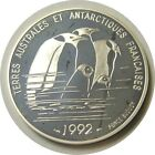 elf France 100 F 1992 Silver Proof Fr Southern and Antarctic Territories Penguin