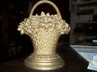Antique Vintage Bradley Hubbard cast iron flower garden basket doorstop B