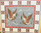 1 Yd Patriotic 4th of July Quilt Fabric Wall Hanging Panel Eagles Mountains Flaw